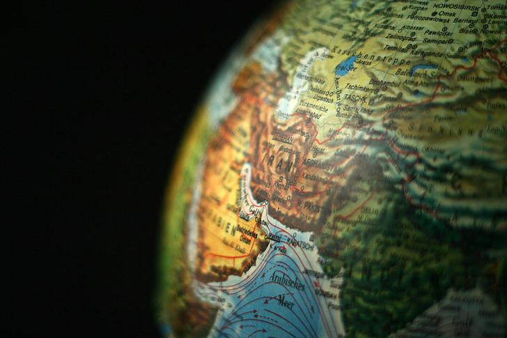 globe, asia, iran, continents, earth, world