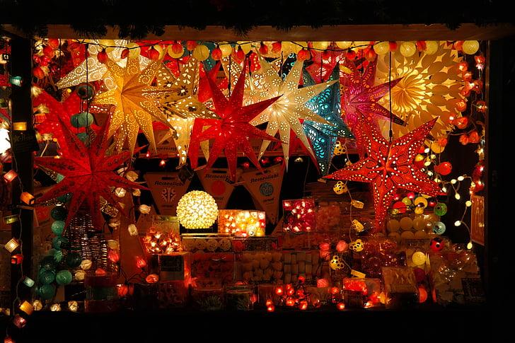 assorted lighted lanterns
