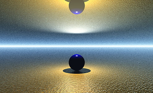 blue ball on white surface