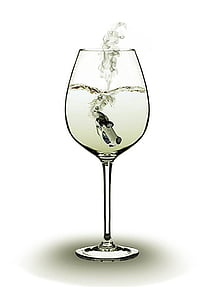 clear wine glass with car inside illustration