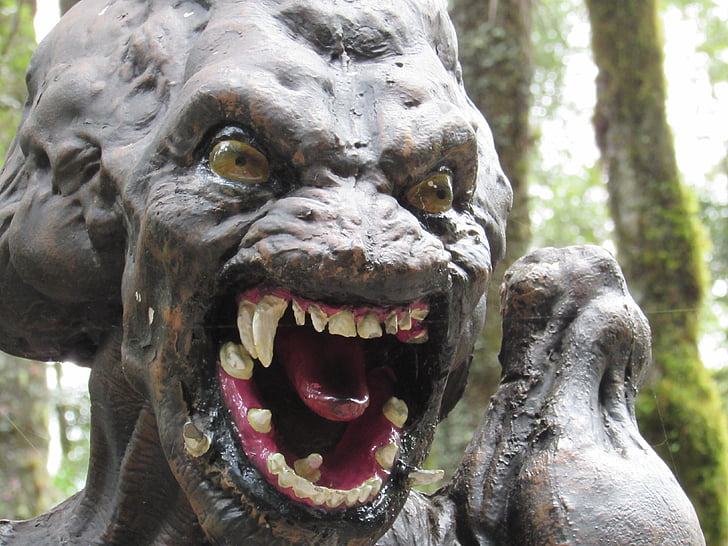 monster statue closeup photo