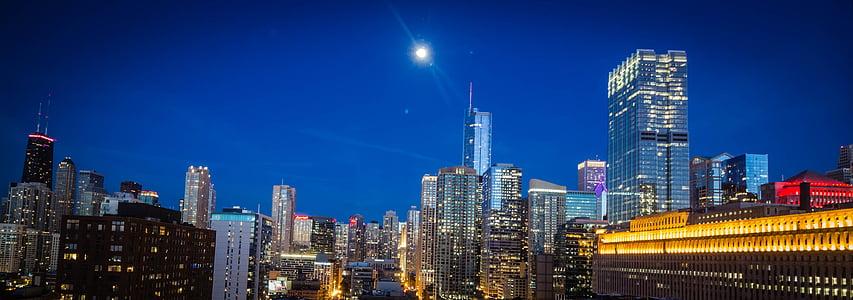 lighten city building