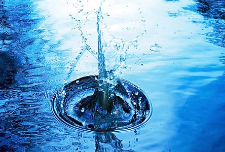 water making ripples