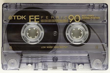 clear TDK Ferric cassete
