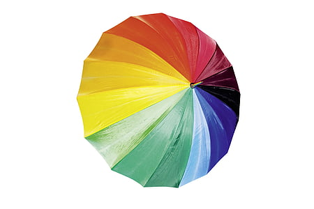 multicolored folding umbrella