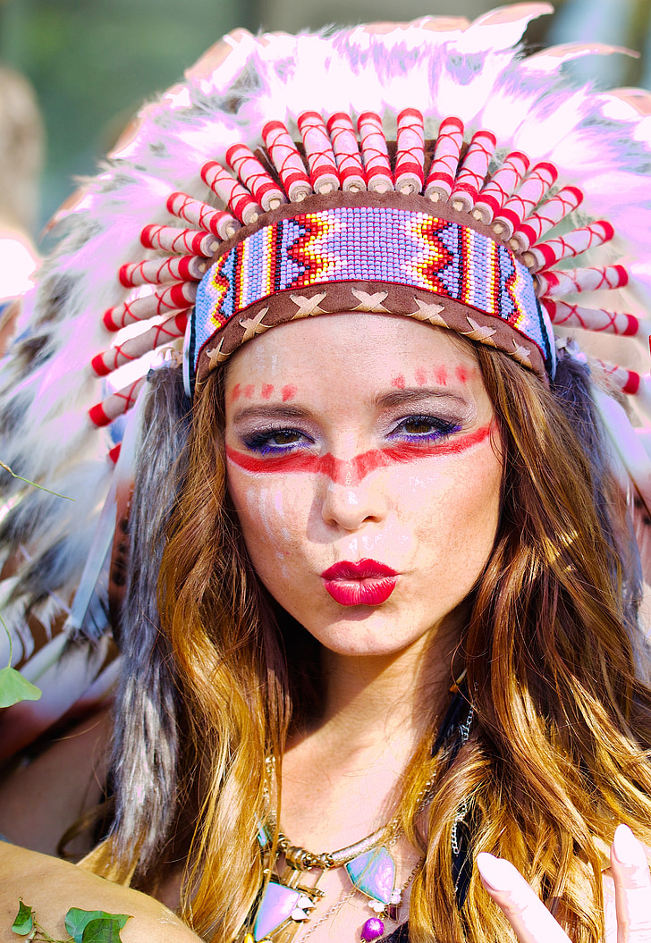 Royalty Free Photo Woman Native American Costume And Makeup Pickpik