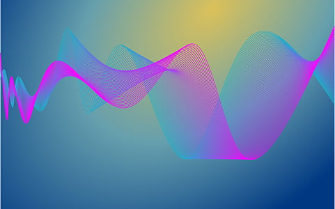 pink and blue sound wave