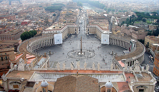 aerial photography of St. Peter's Square