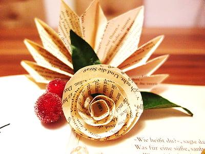 white paper flower decor