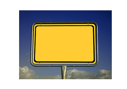 yellow signage board