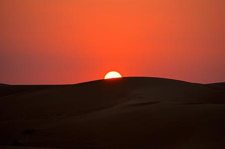 landscape photography of sunset