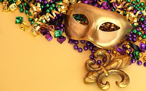 silver masquerade and Fleur De Lis