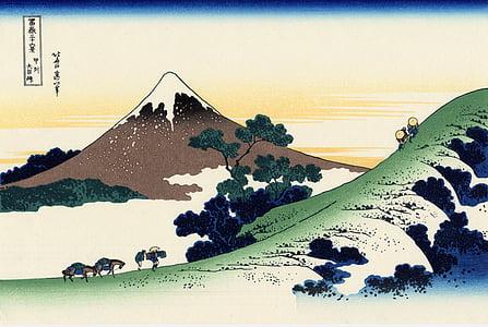 Mount Fuji painting