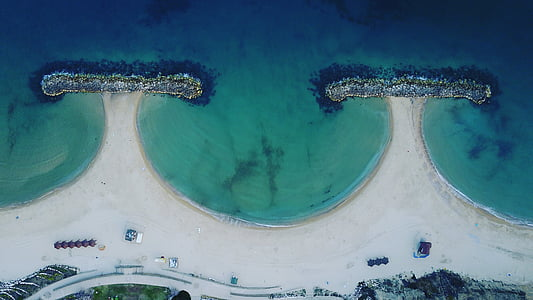 israel, sea, drone, dji, water, coast