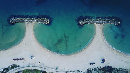 israel, sea, drone, dji, water, coast