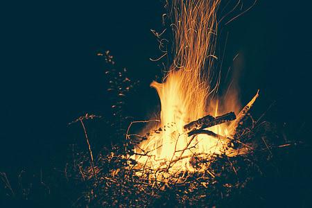 bone fire with dim background