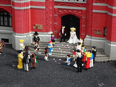 photography of minifig wedding