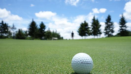 Royalty-Free Photo: Grim Reaper Playing Golf Using Skull