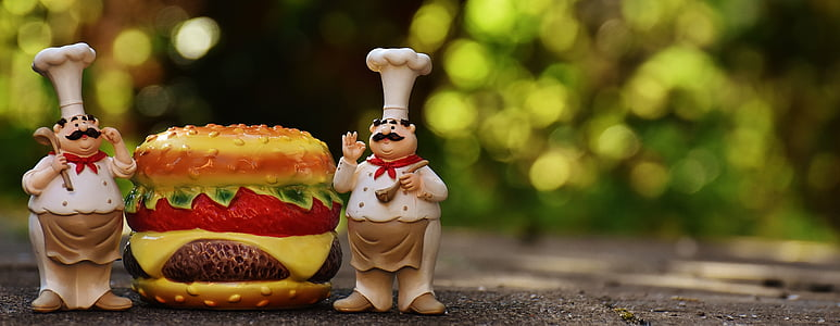 two chef figurines
