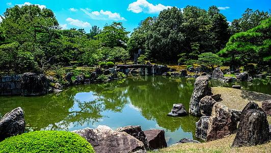 rocks on green lake