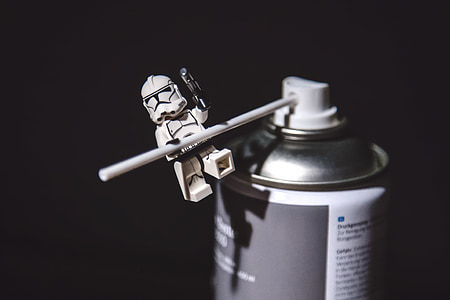 Lego Star Wars on spray can