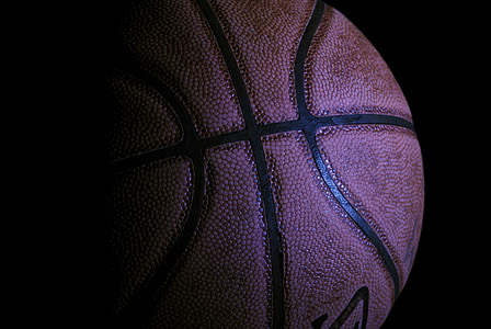 closeup photo of basketball