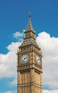photo of Big Ben, London under white clouds during daytime