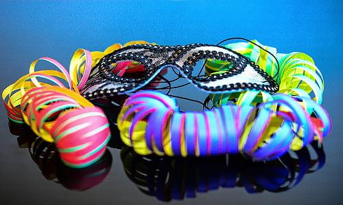 multicolored mask