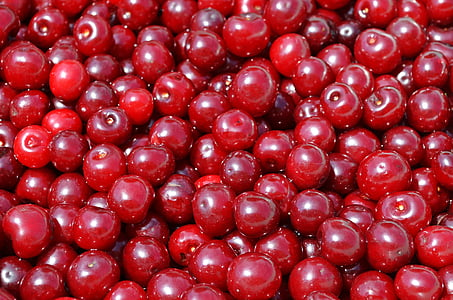 red cherry fruits