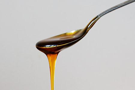silver spoon of honey