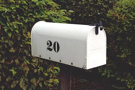 closed white mail box