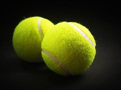 two green tennis balls