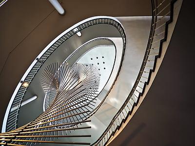white spiral ladder