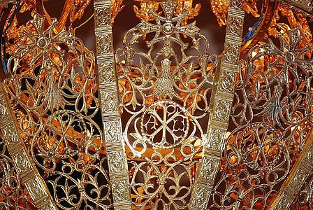 orange and gold decorative ornament