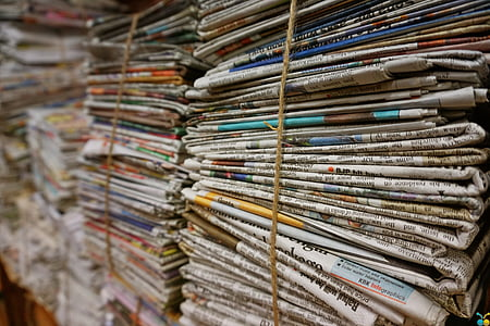 bundle of newspaper lot