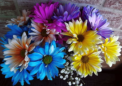 assorted-color flower arrangement