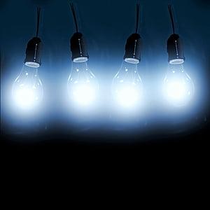 four light bulbs turned on
