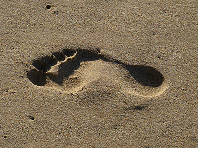 footprint on the sand