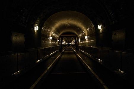 under ground train tunnel