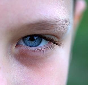 person left eye