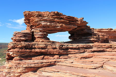 rock formation under blue sky