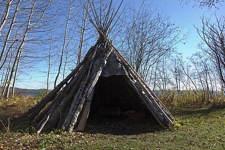 hut made of woods