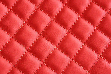 quilted red leather textile