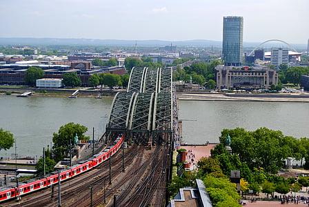 photo of truss bridge over river