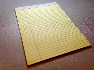 yellow paper pad