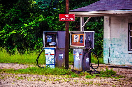 brown gas pump