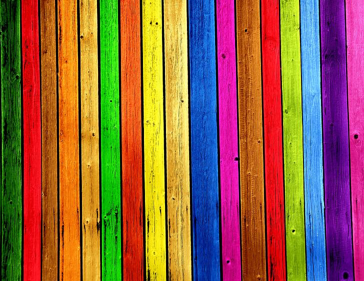 multicolored wooden board