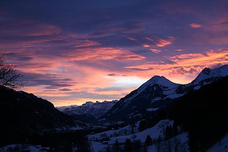 landscape photo of mountain snow field
