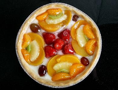 fruit dessert served on beige bowl