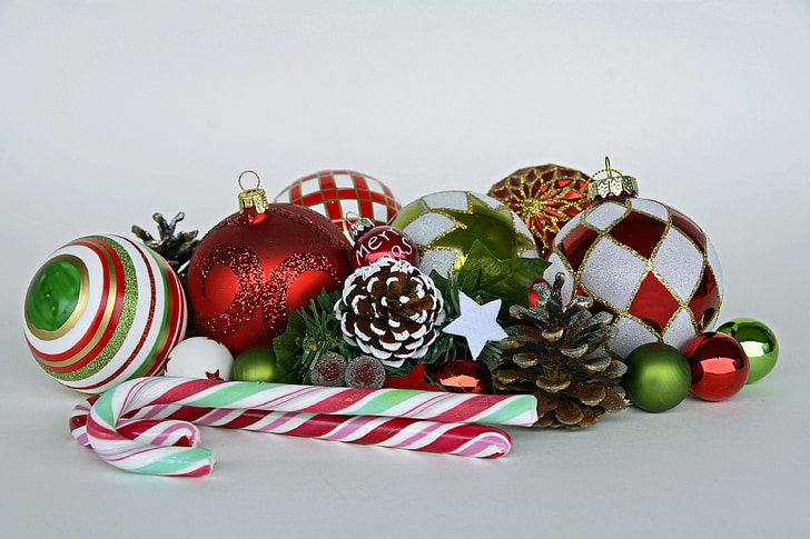 Christbaumkugeln Ornament.Royalty Free Photo Bauble Pine Cone And Candy Cane Pickpik